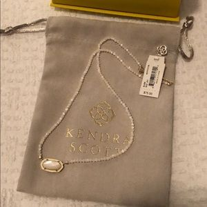 NWT Kendra Scott Elisa Beaded Pendant Necklace